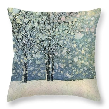 Winter Sonnet Throw Pillow by Hailey E Herrera