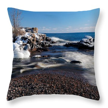 Winter Splash Throw Pillow by Sebastian Musial