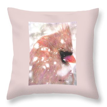 Winter Storm Throw Pillow by Angela Davies