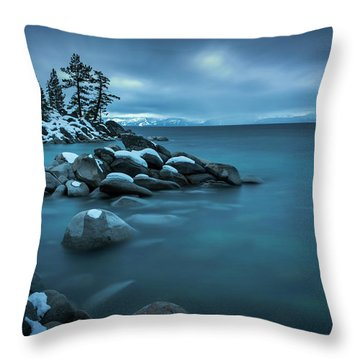 Winter Storm By Brad Scott Throw Pillow