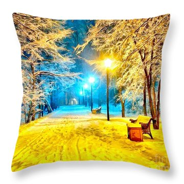Winter Street Throw Pillow