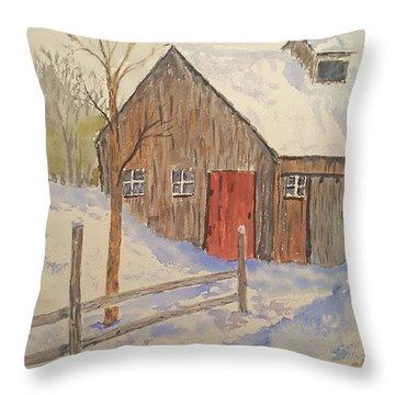 Winter Sugar House Throw Pillow