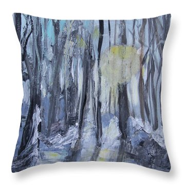 Throw Pillow featuring the painting Winter Sun by Robin Maria Pedrero
