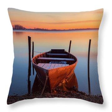 Winter Sunbathing Throw Pillow