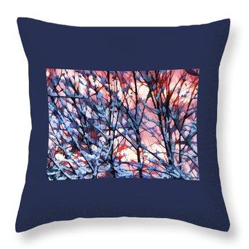 Winter Sunrise Throw Pillow