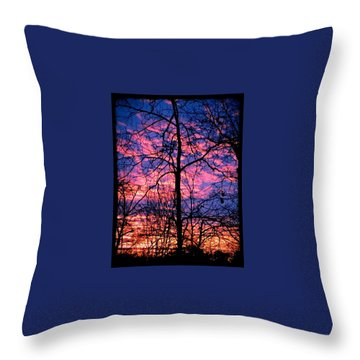 Winter Sunrise Throw Pillow by Betty Buller Whitehead