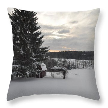 Throw Pillow featuring the photograph Winter Sunset - 2 by John Black