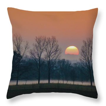 Winter Sunset 1 Throw Pillow