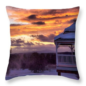 Throw Pillow featuring the photograph Winter Sunset  by Betty Pauwels