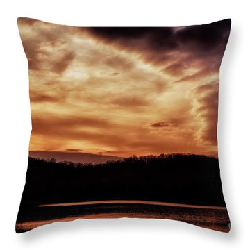 Throw Pillow featuring the photograph Winter Sunset by Thomas R Fletcher