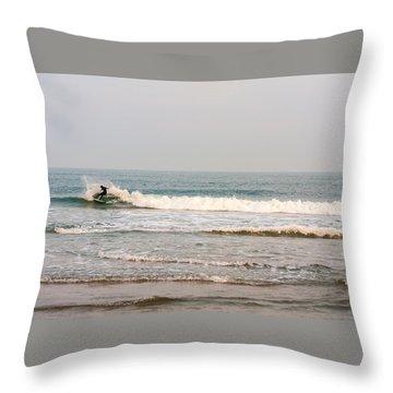 Winter Surfer Throw Pillow