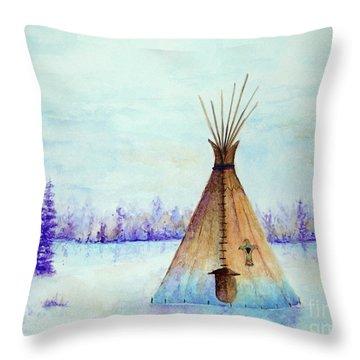 Winter Tepee Throw Pillow