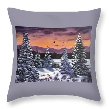 Winter Time Again Throw Pillow