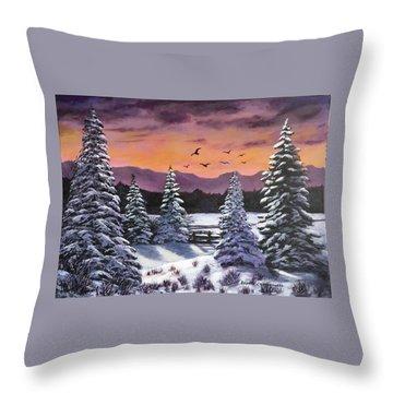 Winter Time Again Throw Pillow
