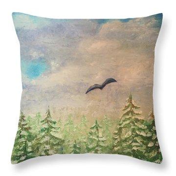 Winter To Spring Throw Pillow