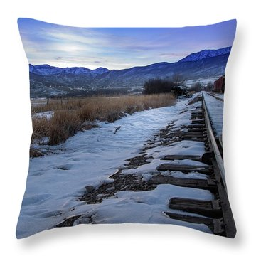 Winter Tracks Throw Pillow