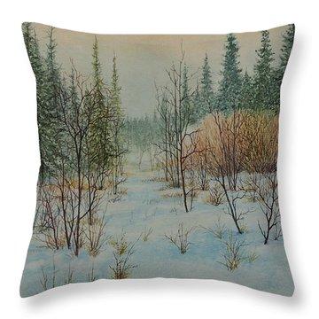 Winter Trail Alberta Throw Pillow