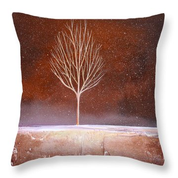 Winter Tree Throw Pillow by Toni Grote