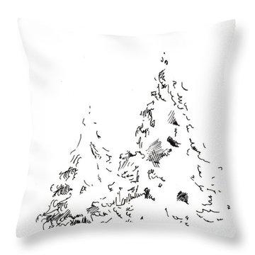 Winter Trees 1 - 2016 Throw Pillow