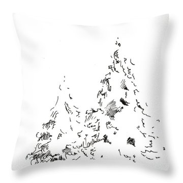 Winter Trees 1 - 2016 Throw Pillow