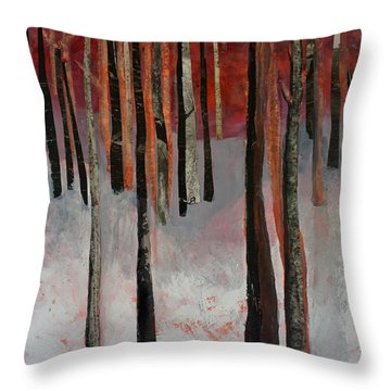 Winter Trees 1 Throw Pillow