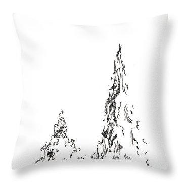 Winter Trees 2 - 2016 Throw Pillow