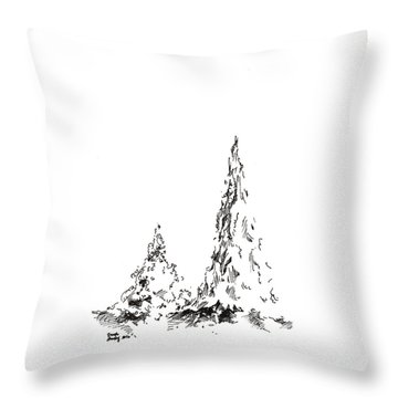 Winter Trees 2 - 2016 Throw Pillow