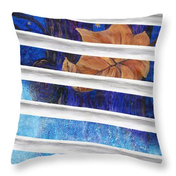 Winter Trees Throw Pillow by Melinda Dare Benfield