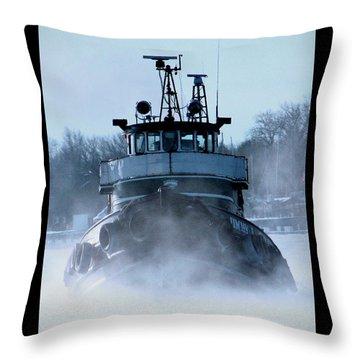 Winter Tug Throw Pillow