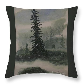 Winter Up North Throw Pillow