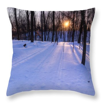 Winter Walks Continue Throw Pillow