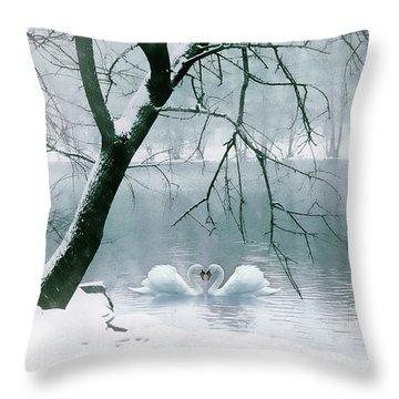 Winter Waltz Throw Pillow