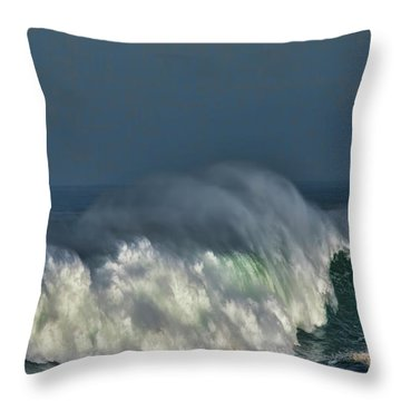 Winter Waves And Veil Throw Pillow