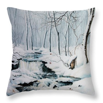Winter Whispers Throw Pillow by Hanne Lore Koehler