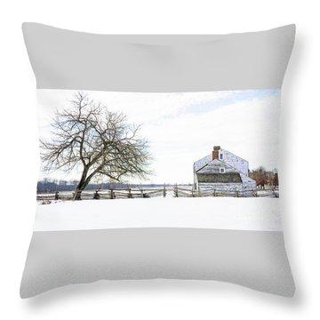 Winter White Out Throw Pillow