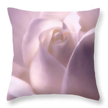 Winter White Rose 2 Throw Pillow