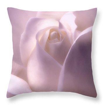 Winter White Rose 2 Throw Pillow