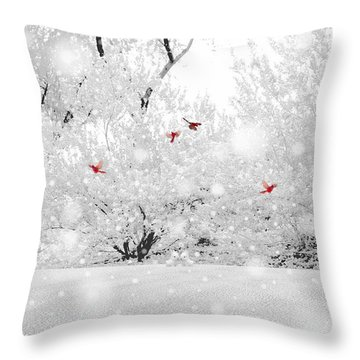 Winter, Winter Throw Pillow