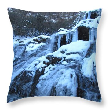 Frigid Falls Throw Pillow