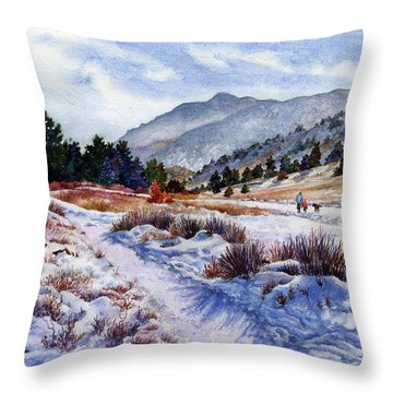 Winter Wonderland Throw Pillow by Anne Gifford