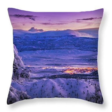 Winter Wonderland Throw Pillow by Edgars Erglis