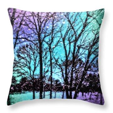 Winter Wonderland Painting Throw Pillow