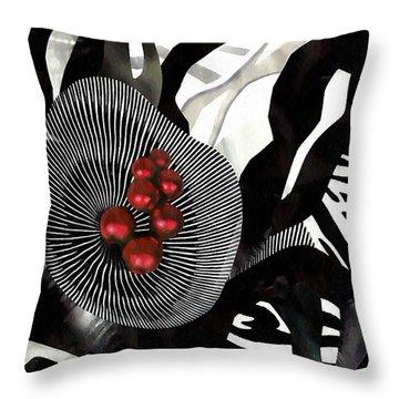 Winterberries Throw Pillow by Sarah Loft