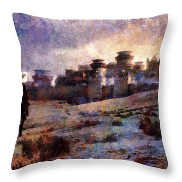 Winterfell Throw Pillow by Lilia D