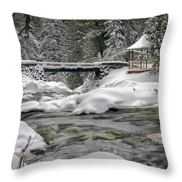 Throw Pillow featuring the photograph Winter's Blanket by Mary Amerman