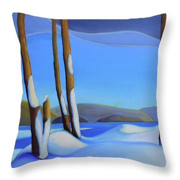 Winter's Calm Throw Pillow