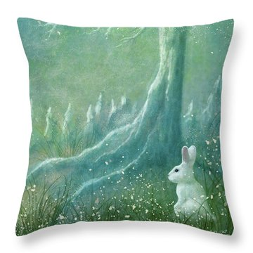 Throw Pillow featuring the digital art Winters Coming by Ann Lauwers