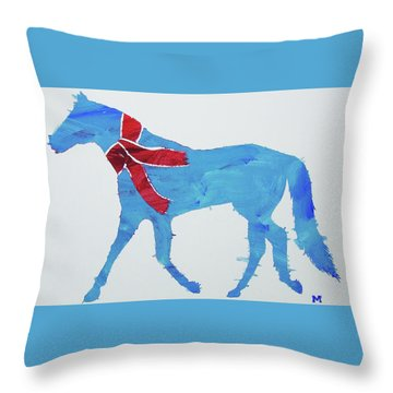 Throw Pillow featuring the painting Winter's Coming by Candace Shrope