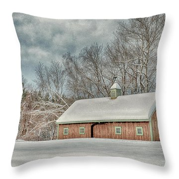 Winters Coming Throw Pillow by Tricia Marchlik