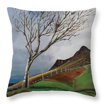 Winter's Day At Yewbarrow -painting Throw Pillow